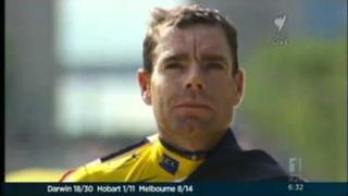 Tina Arena sings the anthem for Cadel