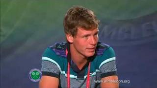 Tomas Berdych Wimbledon 2010 QF Interview