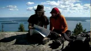 Tuomas Holopainen & Tony Kakko hiking at Koli, Finland