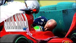 warning: disturbing image! Felipe Massa's F1 Hungarian GP Qualifying crash... [DOM TV]