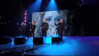 Westlife Shane Filan, Nicky Byrne and Kian Egan backstage at the Xfactor 13 Dec 2011