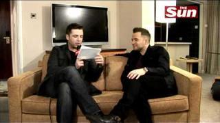 Westlife star Shane Filan been interviewed by Mark feehily on The Sun Showbiz Music