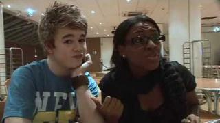 x factor Eoghan and Alexandra talking about JLS