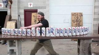Zombie Tools: Max vs 24 Beer Cans