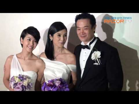 Charlie Young gets married in Singapore
